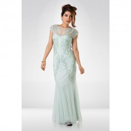 Powder Blue Sequence Gown