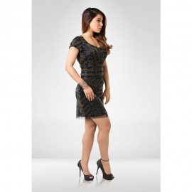 Black & Golden  Sequin Party Dress