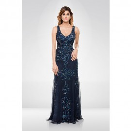 Blue Sequence Gown