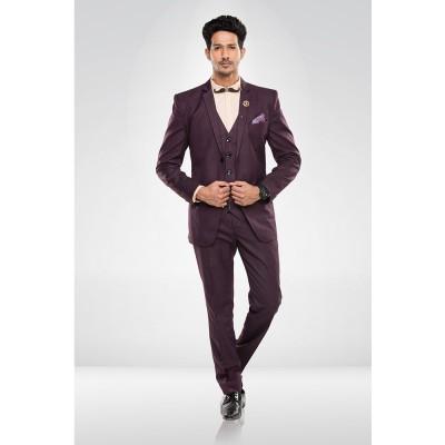 Wine Colour Blazer Suit