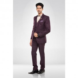 Wine Colour Blazer Suit