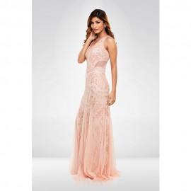 Peach Sequence Gown