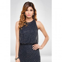 Navy Blue Sequence Gown