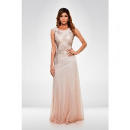 Light Peach Sequence Gown