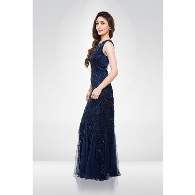 Electric Blue Sequence Gown