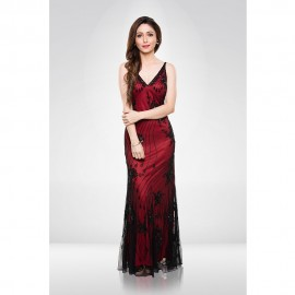 Red & Black Sequence Gown