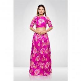 Pink Skirt & Crop Top