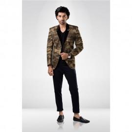 Camouflage printed blazer